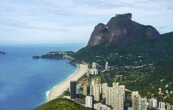 Beautiful sandy beach in Ocho Rios, Jamaica. Beautiful sandy beach in Rio de Janeiro, Brazil stock images