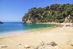 Beautiful sandy beach in Preveza area. Greece Royalty Free Stock Image