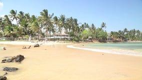 Beautiful sandy beach in Sri Lanka stock video