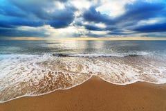 Beautiful sandy beach Royalty Free Stock Photos