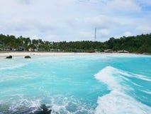 Beautiful sandy beach on a tropical island Stock Image