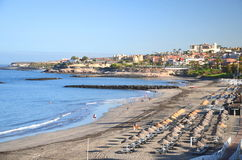 Beautiful sandy Playa de Torviscas in Adeje on Tenerife Stock Image