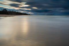 Beautiful sandy sea shore Royalty Free Stock Image