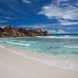 Beautiful sandy tropical beach Royalty Free Stock Images