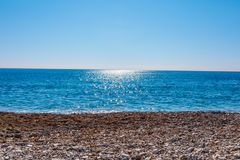 Beautiful sanny beach. Beautiful sanny beach and blue sky royalty free stock photography