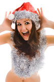 Beautiful santa claus woman Royalty Free Stock Photography