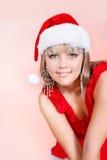 Beautiful santa girl Royalty Free Stock Photo