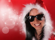 Beautiful Santa girl Royalty Free Stock Photo