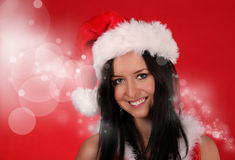 Beautiful Santa girl Royalty Free Stock Image
