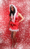 Beautiful Santa girl Royalty Free Stock Photos