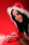 Beautiful Santa girl Stock Photo