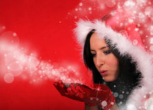 Beautiful Santa girl Stock Photos