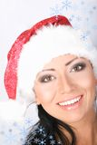 Beautiful Santa girl Stock Photography