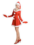Beautiful santa girl Royalty Free Stock Photography