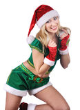 Beautiful santa girl. Royalty Free Stock Image