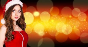 Beautiful santa girl Stock Image