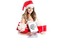 Beautiful Santa Girl. Stock Image