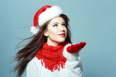 Beautiful santa girl Stock Photography