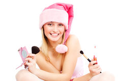 Beautiful Santa helper Royalty Free Stock Image