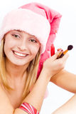 Beautiful Santa helper Royalty Free Stock Photography