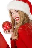 Beautiful Santa Helper Stock Photo
