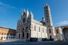 Beautiful Santa Maria Cathedral in Siena Royalty Free Stock Photo