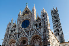 Beautiful Santa Maria Cathedral in Siena, Tuscany, Royalty Free Stock Photography