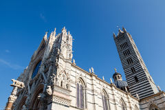 Beautiful Santa Maria Cathedral in Siena, Tuscany, Royalty Free Stock Photos