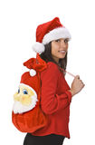 Beautiful Santa woman Stock Image