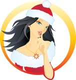 Beautiful santa woman Royalty Free Stock Image