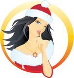 Beautiful santa woman royalty free illustration