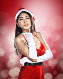 Beautiful Santa Woman Royalty Free Stock Images
