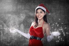 Beautiful Santa Woman Stock Image