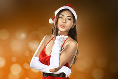 Beautiful Santa Woman Royalty Free Stock Photos