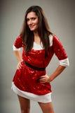 Beautiful Santa young woman Royalty Free Stock Images