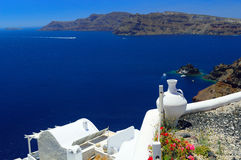 Beautiful Santorini, Cyclades, Greece Royalty Free Stock Photos