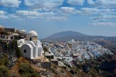 Beautiful Santorini Greece stock photography