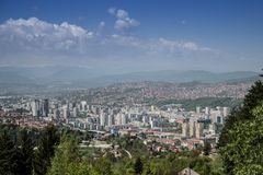Beautiful Sarajevo  royalty free stock photography