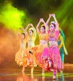 Beautiful Sari-Dance of India. June 28, 2014 in Nanchang Art Center, rural credit cooperatives in Jiangxi Fuk troupe dance rehearsal Stock Photography