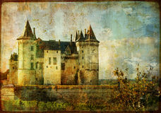 Beautiful Saumur (loire valley) Royalty Free Stock Images