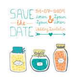 Beautiful save the date card design Stock Photo