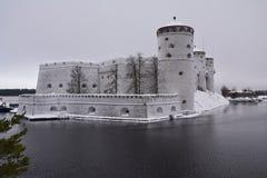 Savonlinna Castle in Olavinlinna Finland royalty free stock image