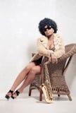Beautiful saxophone player stock photo