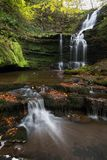 Upper Scaleber Falls. The beautiful Scaleber Falls in late Autumn Stock Images