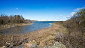 Beautiful Scandinavia spring landscape Royalty Free Stock Photos
