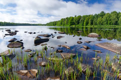 Beautiful scandinavian lake Royalty Free Stock Images