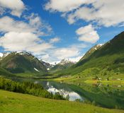 Beautiful scandinavian landscape Royalty Free Stock Images