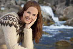 Beautiful Scandinavian Woman Stock Photos