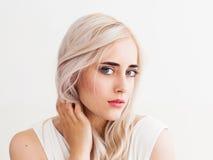 Beautiful scandinavian woman portrait, close-up Royalty Free Stock Images