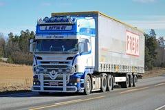Beautiful Scania R500 Cargo Truck Royalty Free Stock Photos